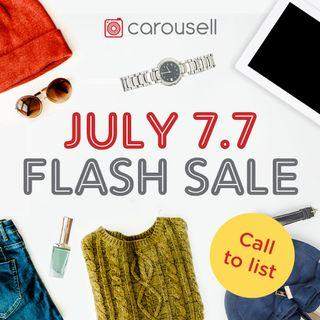 Reminders: July 7.7 Flash Sale