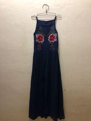 Tank Top Blue Long Dress