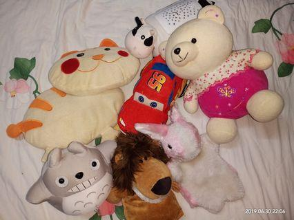 Soft toys (no brand)