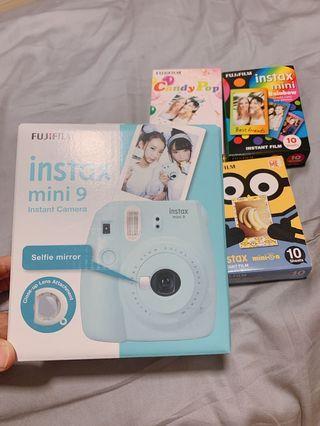 🚚 BN !! Fujifilm Instax Mini 9 BLUE