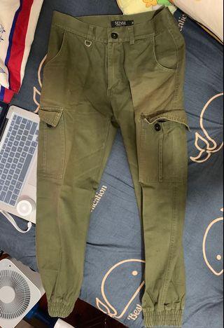 Jogger Pants 軍綠色 束腳褲 Sense 男裝褲