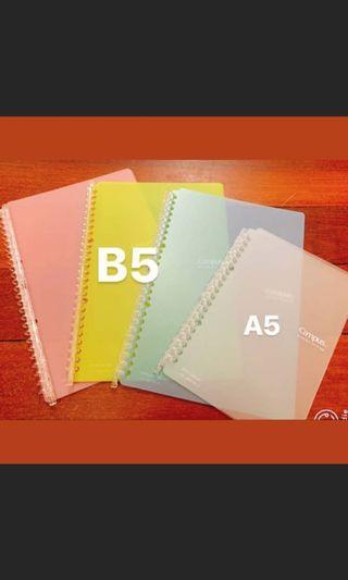 🚚 Campus活頁紙筆記本A5白色/B5粉紅 藍 綠