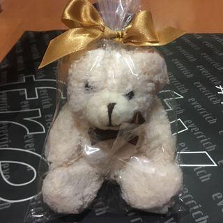 🚚 絨毛小白熊 鑰匙圈、吊飾