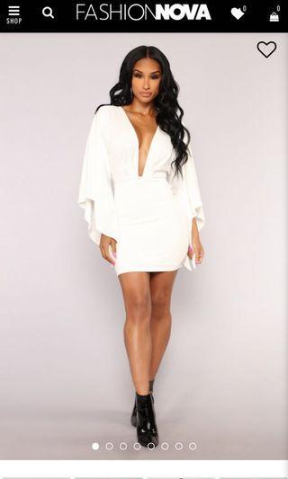 Fashion nova big spender white dress