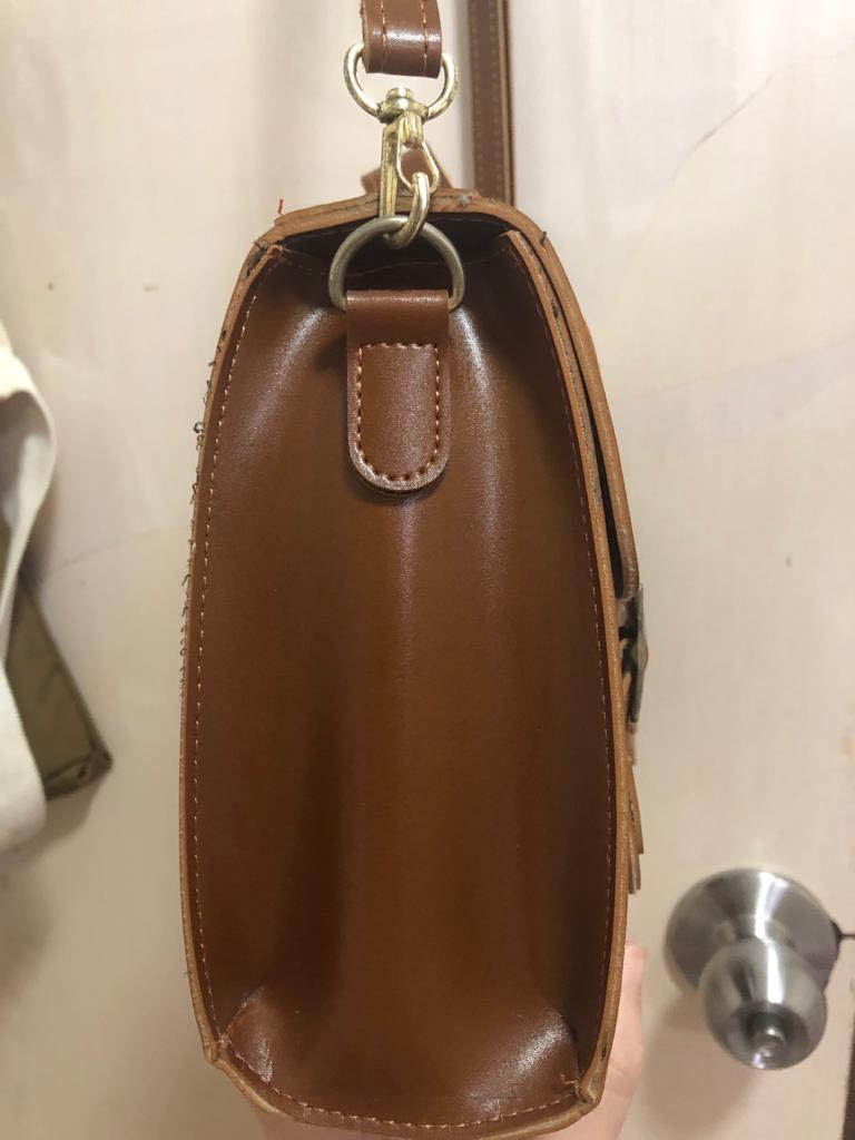 韓國文青皮側袋