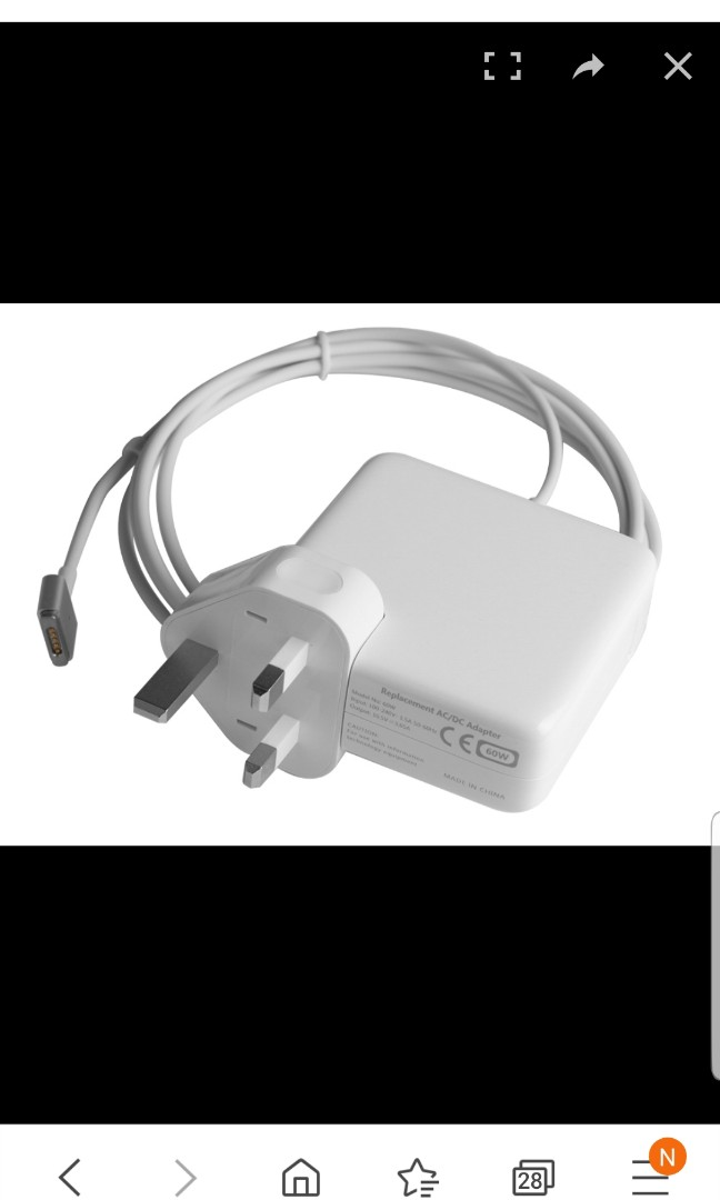 , 60W Power Adapter Charger for Apple MacBook Pro Retina 13 Late 2012