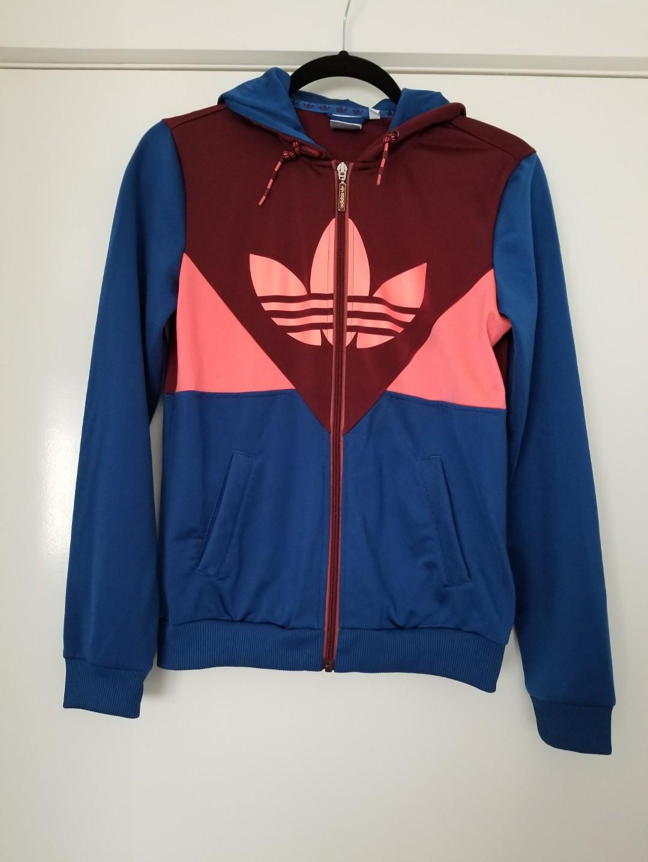 Adidas multicolour hoodie jacket size 38