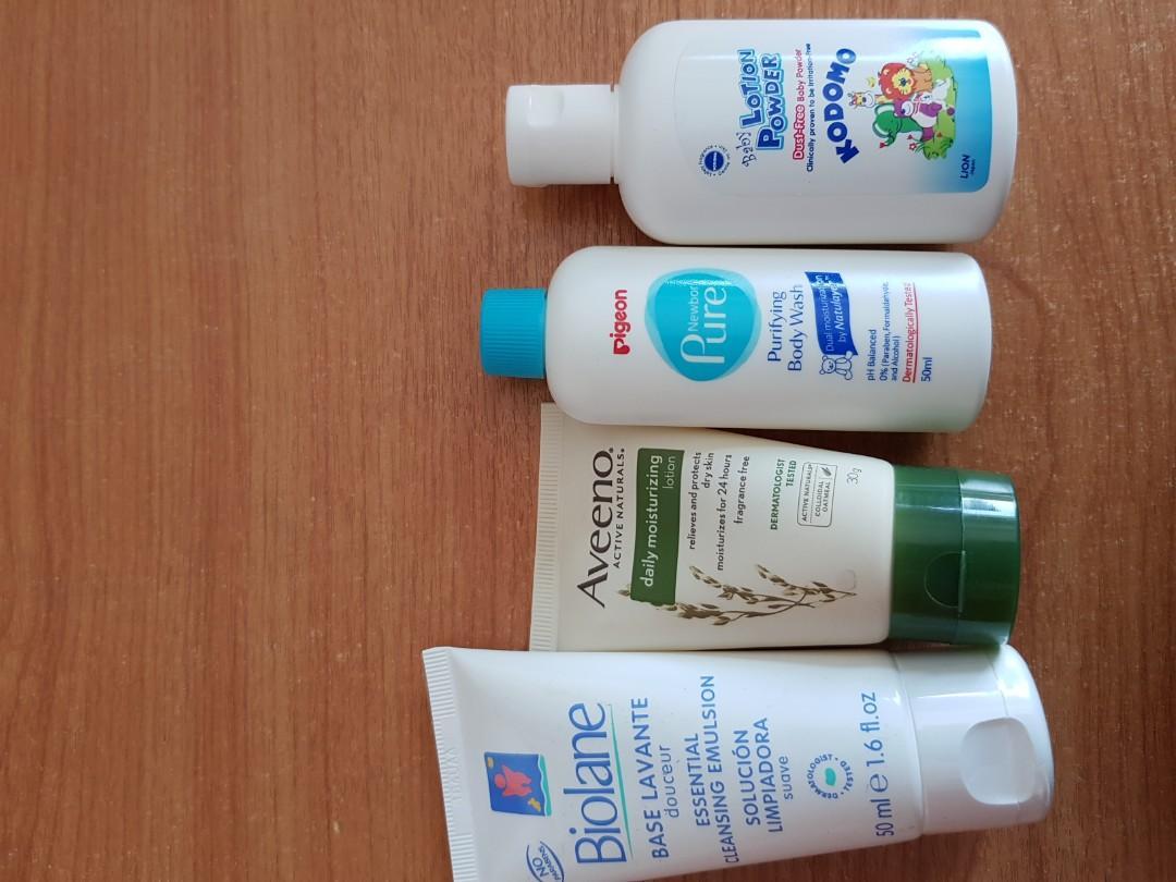 Baby lotion / wash / powder / samples