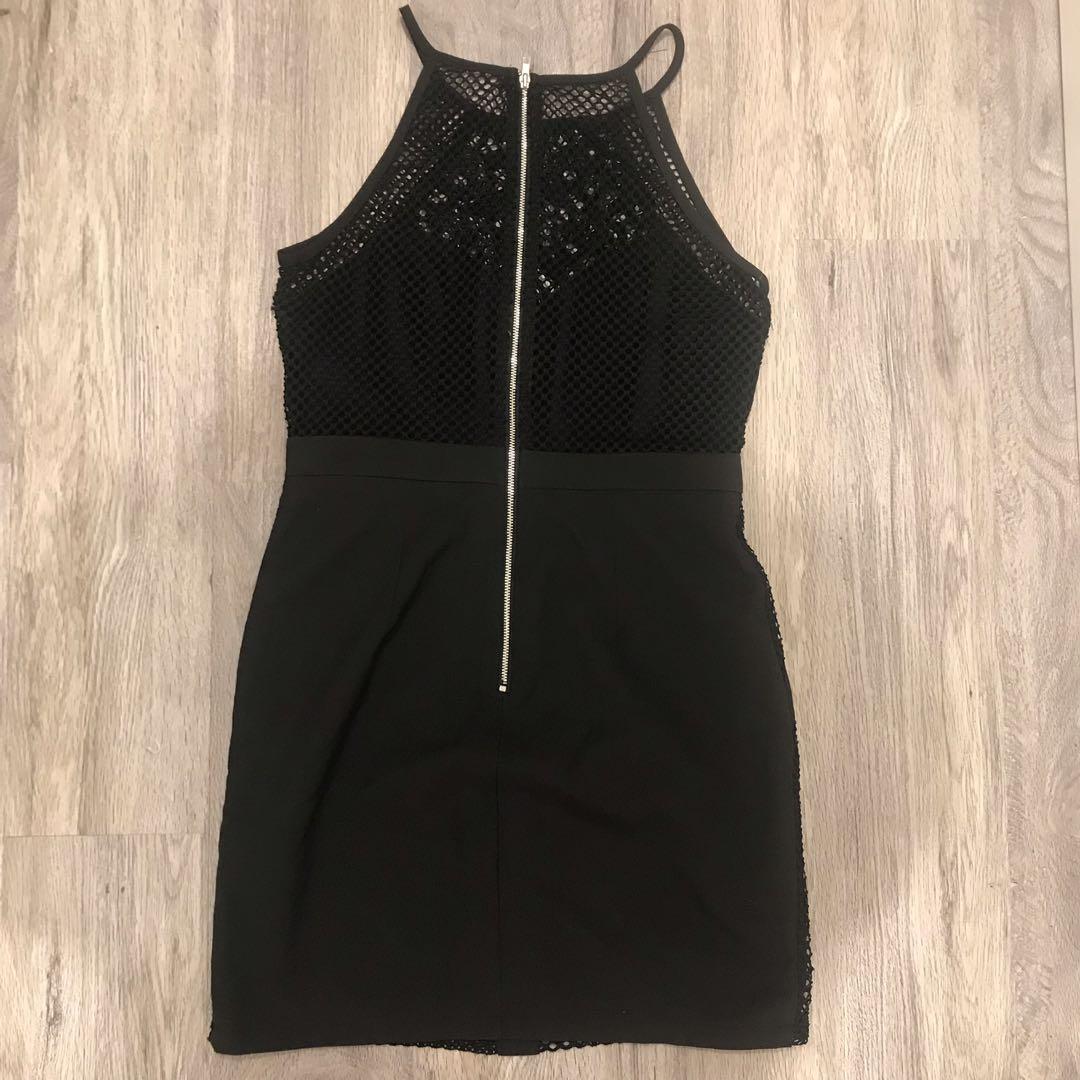 Back lace mesh dress LBD