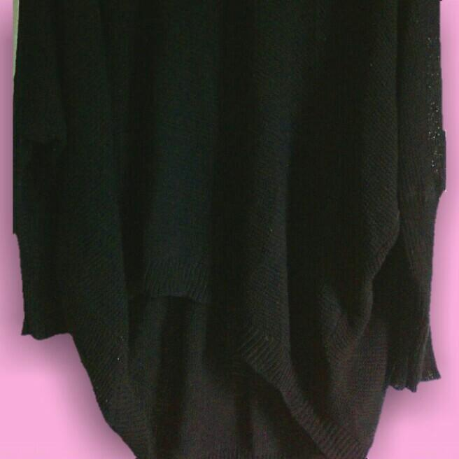 Black boho oversize knit jumper small