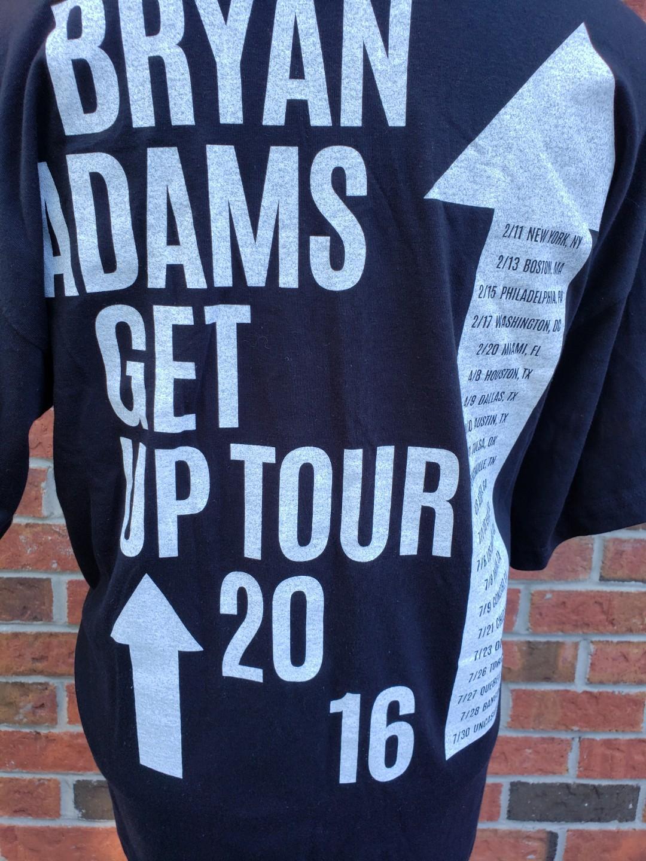 Bryan Adams- Get Up Tour 2016 T- Shirt