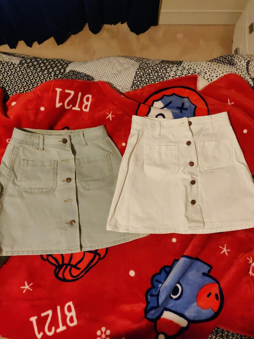 Button up skirts ($5 each)