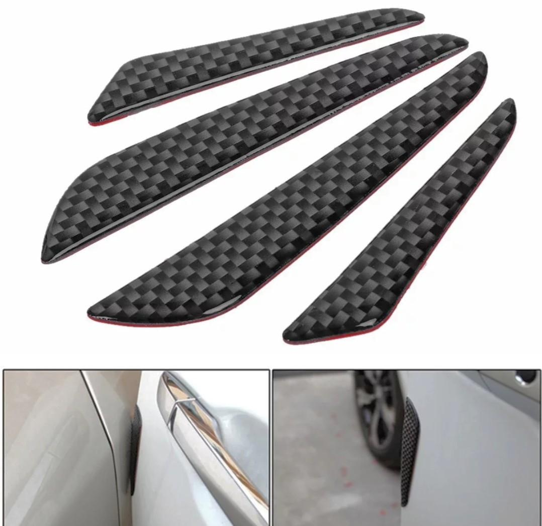4 PCS SET BLACK BLADE CAR DOOR EDGE GUARD BUMPER SCRATCH PROTECTOR MOLDING TRIM