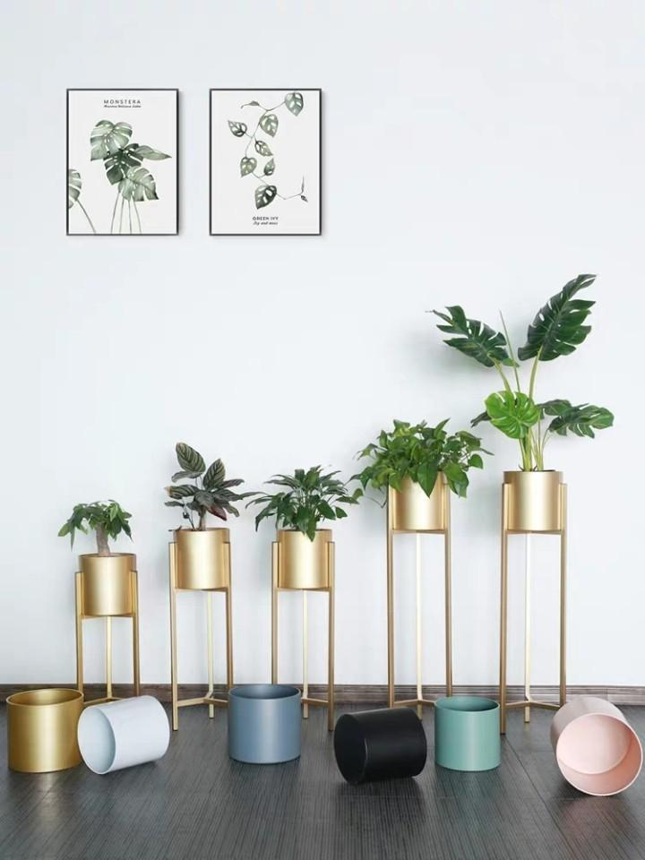 Champagne gold pot stand holder planter