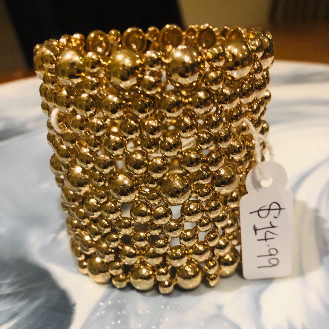 Closing down Online Boutique jewellery Gold Dress Bracelet/Cuff