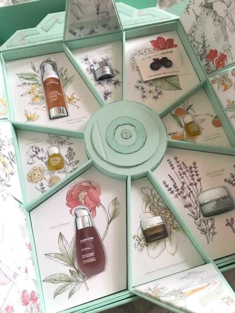 Darphin Paris collection beauty wardrobe set oil serum mask cleanser cream gel recovery balm eye cream concentrate mask lotion Sisley Caudalie