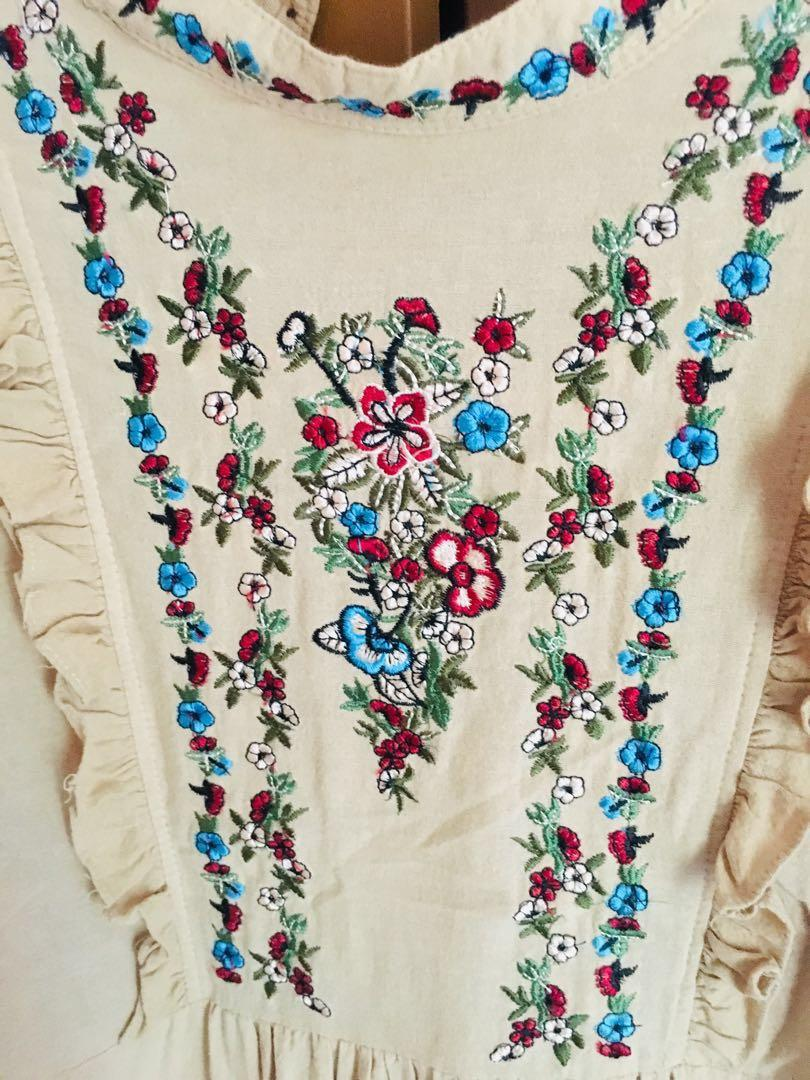 Embroidery vintage tunic