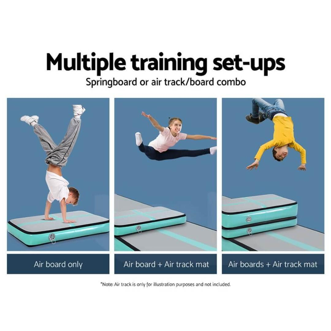 Everfit 1M Airtrack Inflatable Air Track Board Tumbling Mat Gymnastics Mint