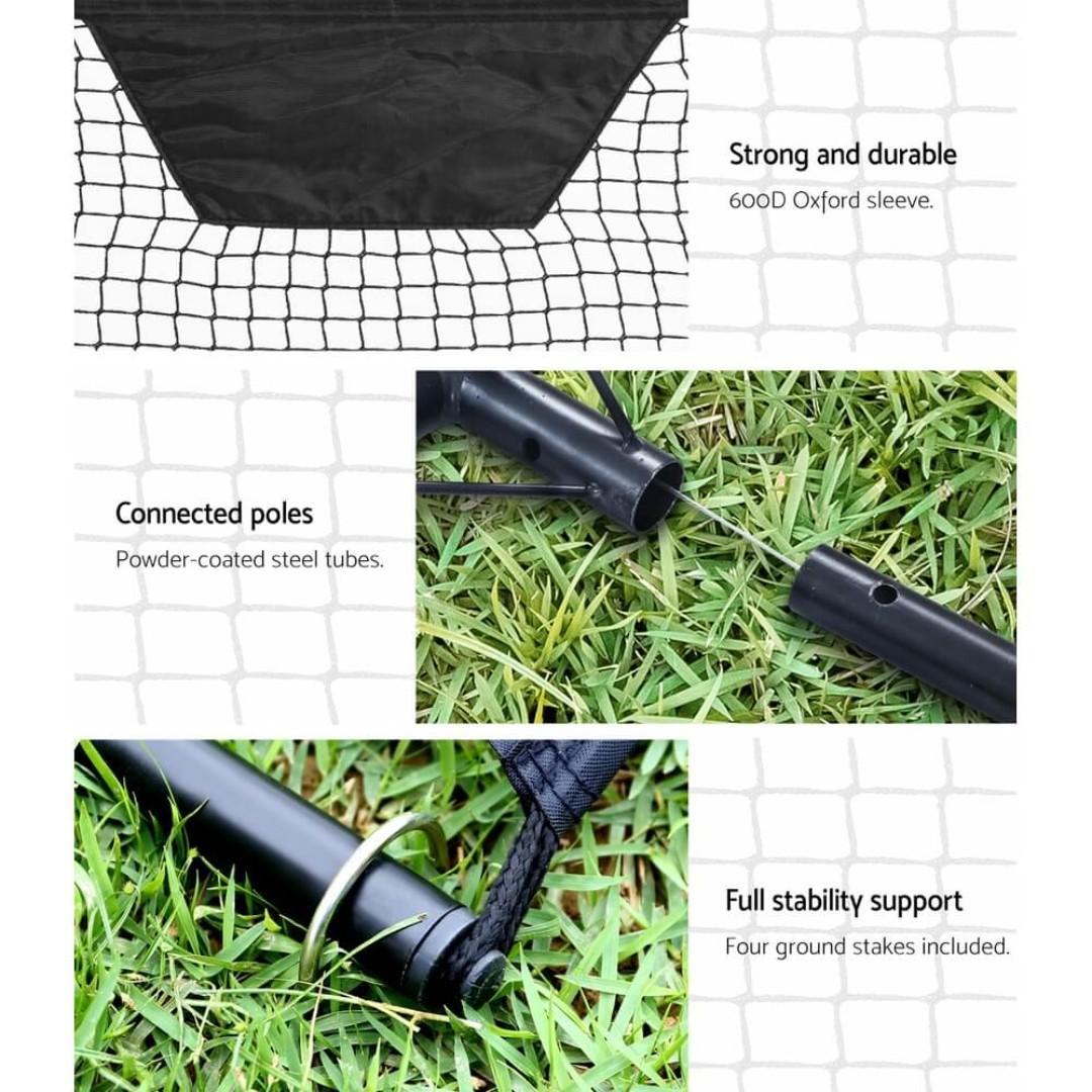 Everfit Portable Soccer Rebounder Net Volley Training Football Goal Pass Trainer