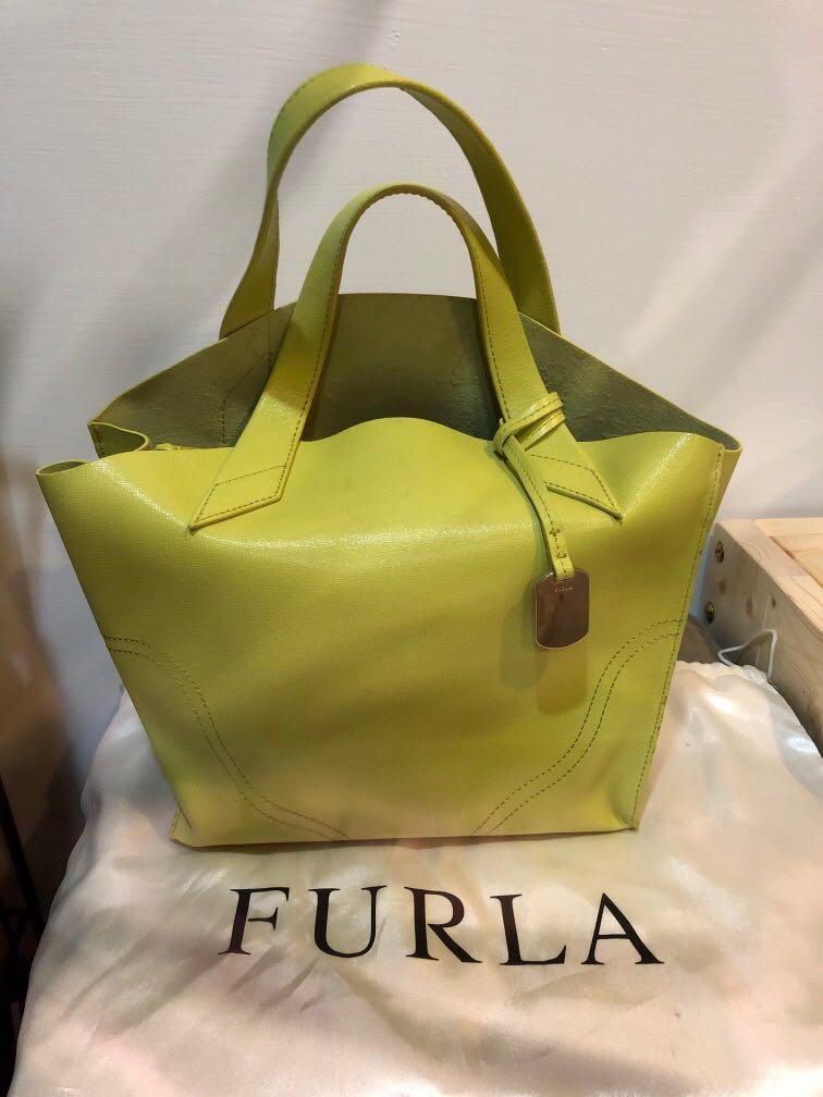 Furla 草綠色手提包