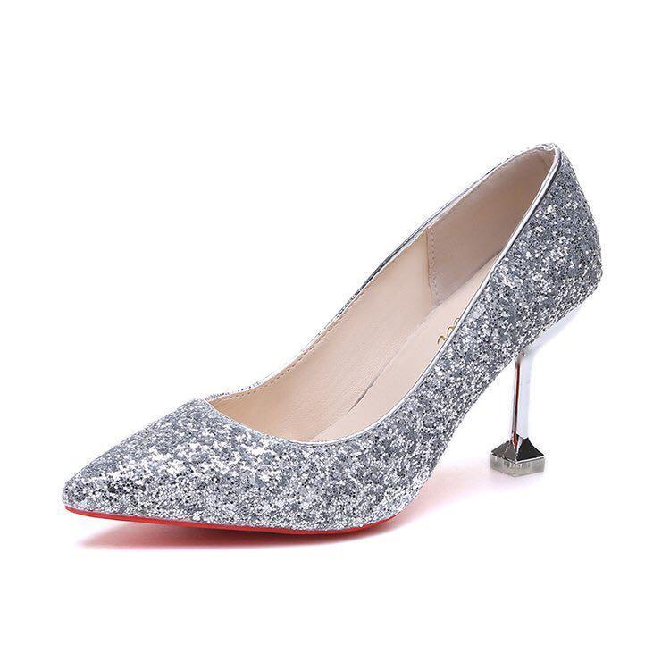 Glitter wedding Heels, Women's Fashion