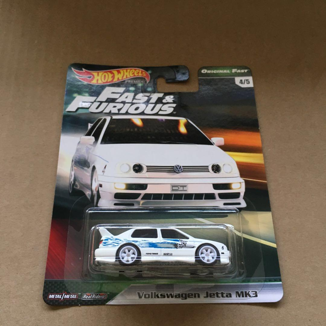 Hot Wheels Fast And Furious Premium Original Fast Vw Volkswagen Jetta Mk3 White Toys Games Bricks Figurines On Carousell
