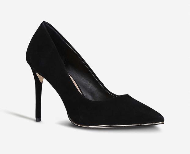 Kurt Geiger black suede pumps heels 36 6 worn once $150