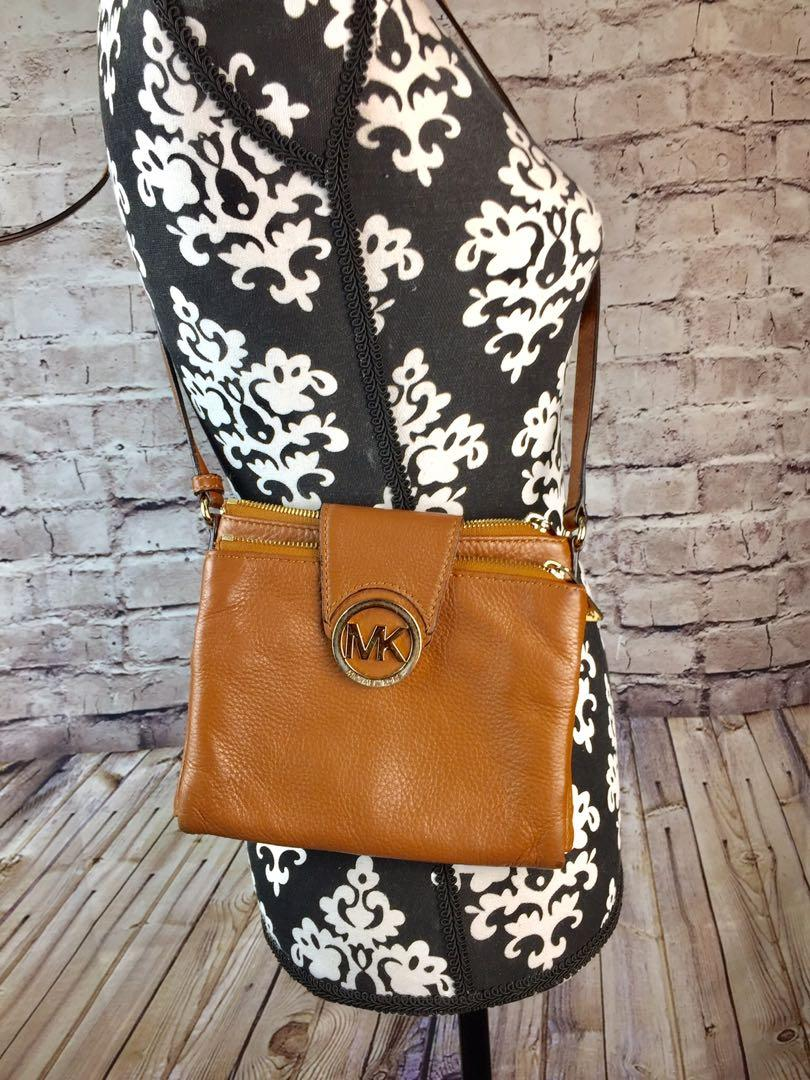 Michael Kors Tan Fulton Crossbody Messenger Shoulder Bag