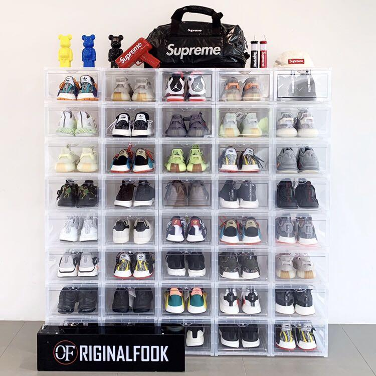 Premium Stackable Shoe Box ORIGINALAB Black Clear