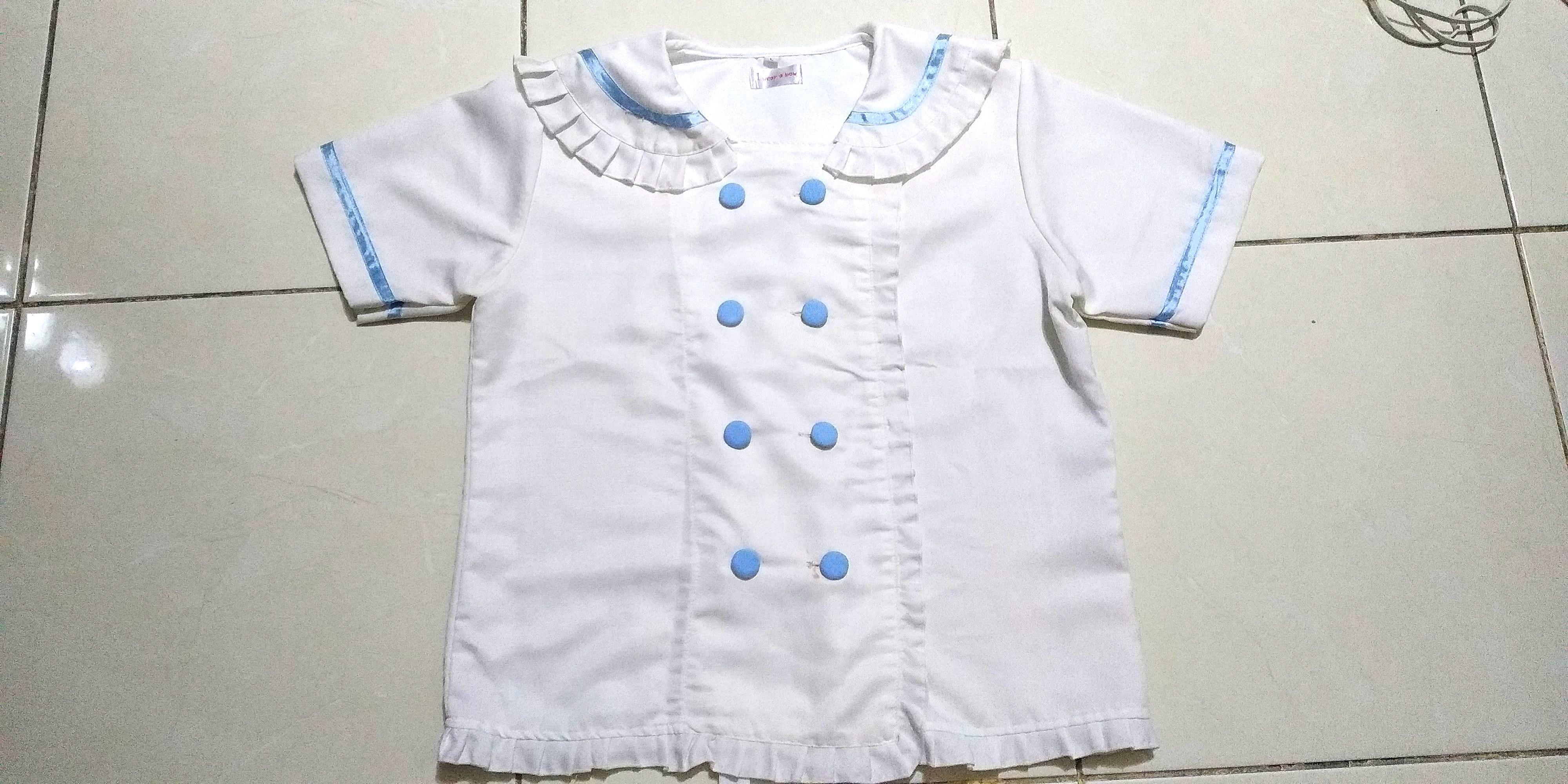 Seifuku sailor japan jepang kawaii t shirt kemeja putih cosplay jumbo big size
