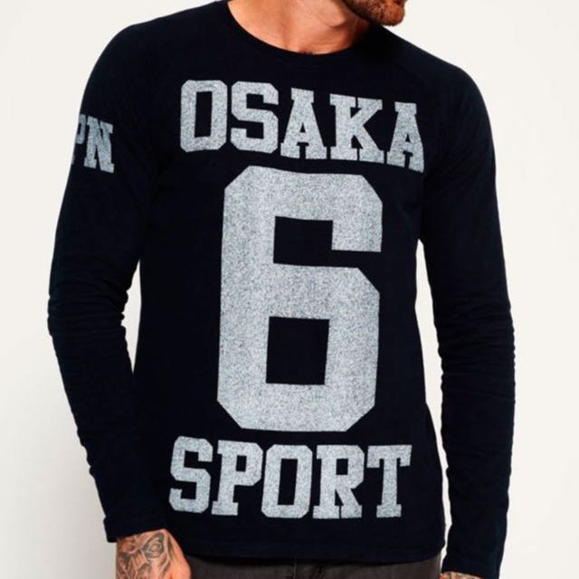 46a439a68 SuperDry Men's Osaka Japan No 6 Sport Long Sleeve Tee (Size S) from U.K