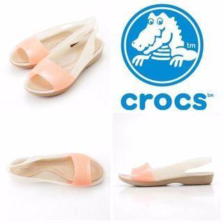 🚚 Crocs-平底防滑止滑果凍膠底雨鞋