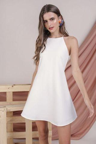 BNWT The Tinsel Rack White Halter Neck Dress (with pockets)