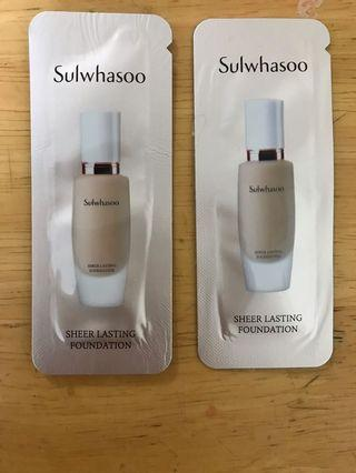 Sulwhasoo sheer lasting foundation 21同23號色
