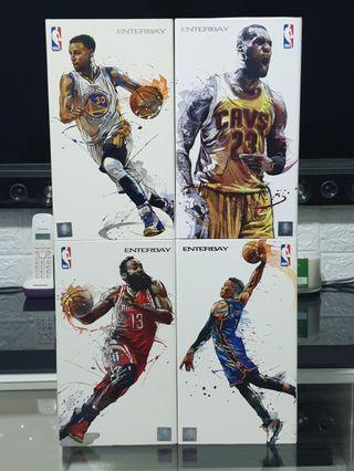 NBA Motion Mastepiece 1/9th scale bundle (Lebron James/James Harden/Stephen Curry/Russel Westbrook)