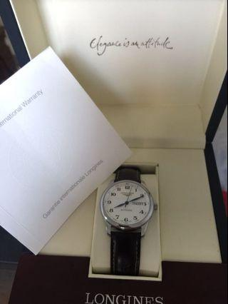 Longines Master Day-Date White Dial