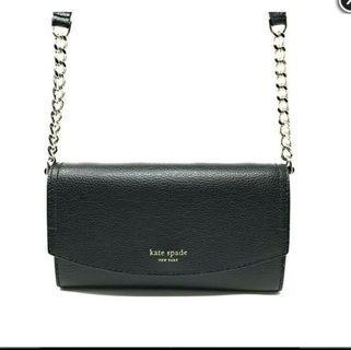 品牌:Kate Spade 商品名稱:EVA WALLET ON A CHAIN  WLRU5359 WOC鍊條包/皮夾