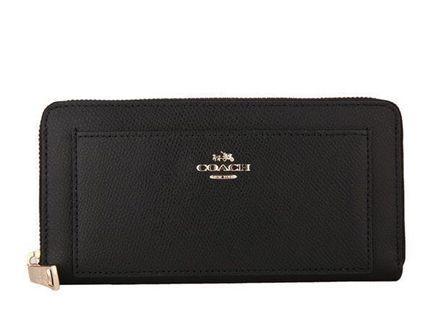 🚚 COACH F52648 美國正品質感防刮拉鍊長夾女長款錢包拉鏈手拿包女士皮夾