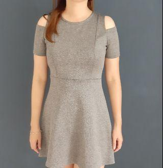 Nichii Grey A Line Dress