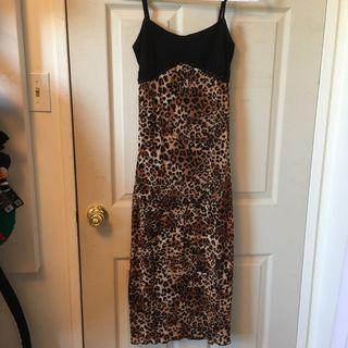 Y2K cheetah print dress