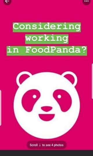 Foodpanda Rider , pmd , cyclist (PT/FT) wanted
