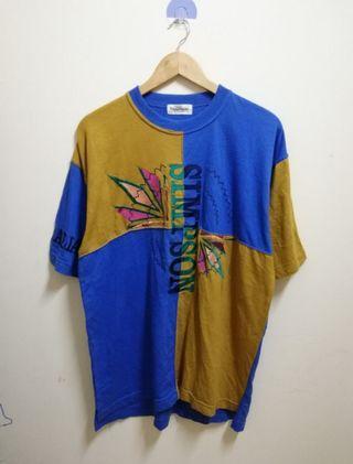 vintage Designer Simpson colour block t shirt