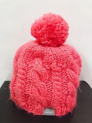 ❤️ab愛亂買❤️橘紅針織球球毛帽