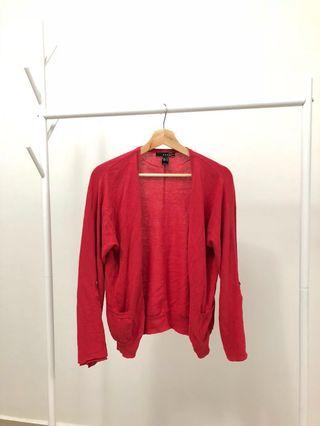 MNG 100% Cotton Cardigan in Red #Paradigm