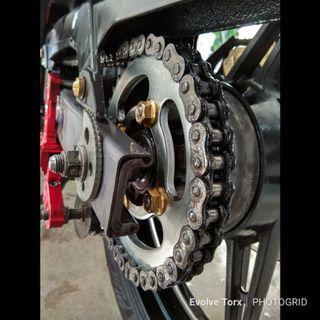 ⚙️Titanium Sprocket Nuts with metal lock insert