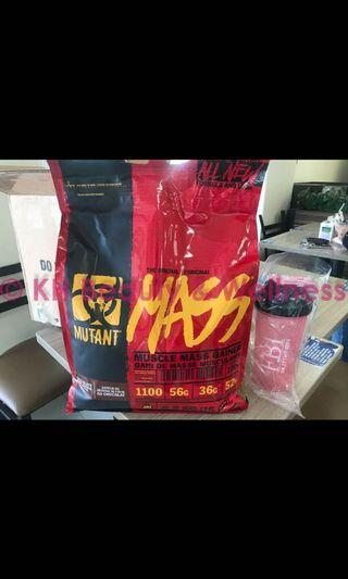 🚚 Mutant Mass 15lbs with tumbler