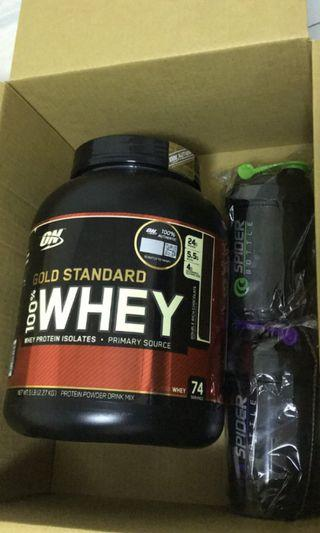 🚚 ON whey 5lbs with tumbler