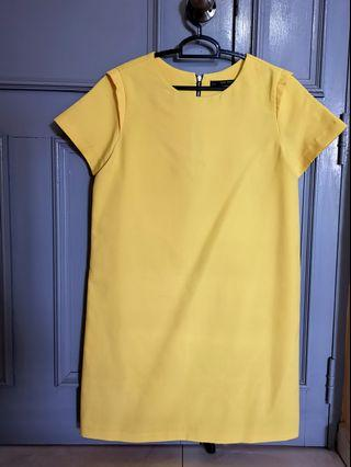 Zara Yellow Shift Dress