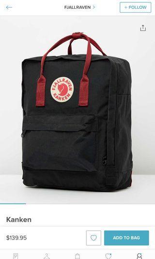 Brand new Kanken school bag