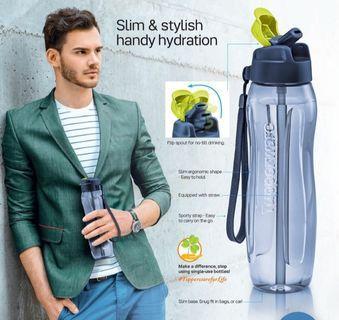 Slim eco bottle with straw tupperware